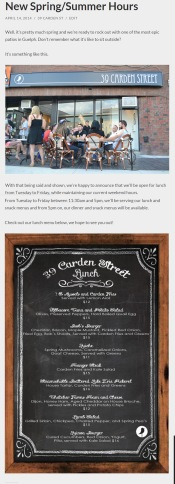Carden Blog Summer Hours