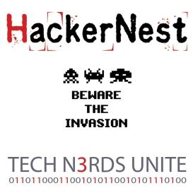 HN Invaders Sticker