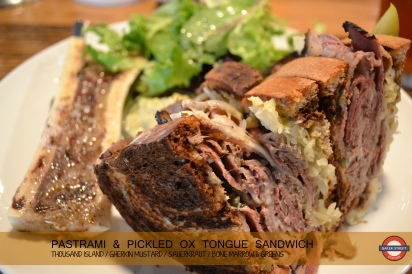 Pastrami & Pickled Ox Tongue Sandwich