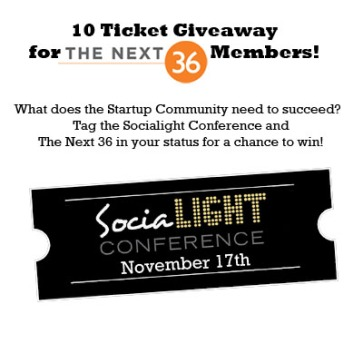 Socialight + Next 36 giveaway 2