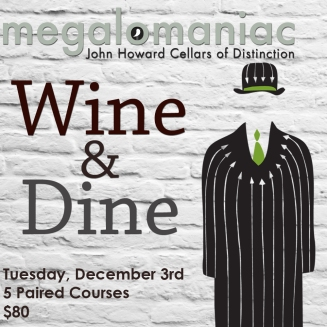 Wine & Dine Carden Nov Megalomaniac Square