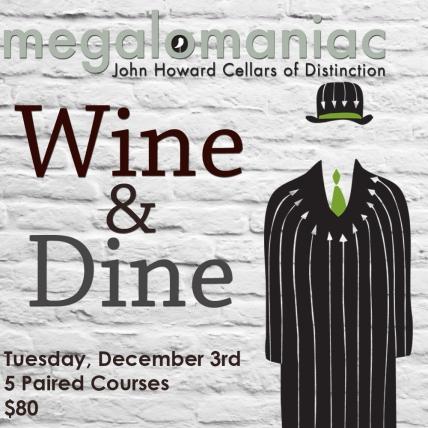 Wine & Dine Carden Nov Megalomaniac Square